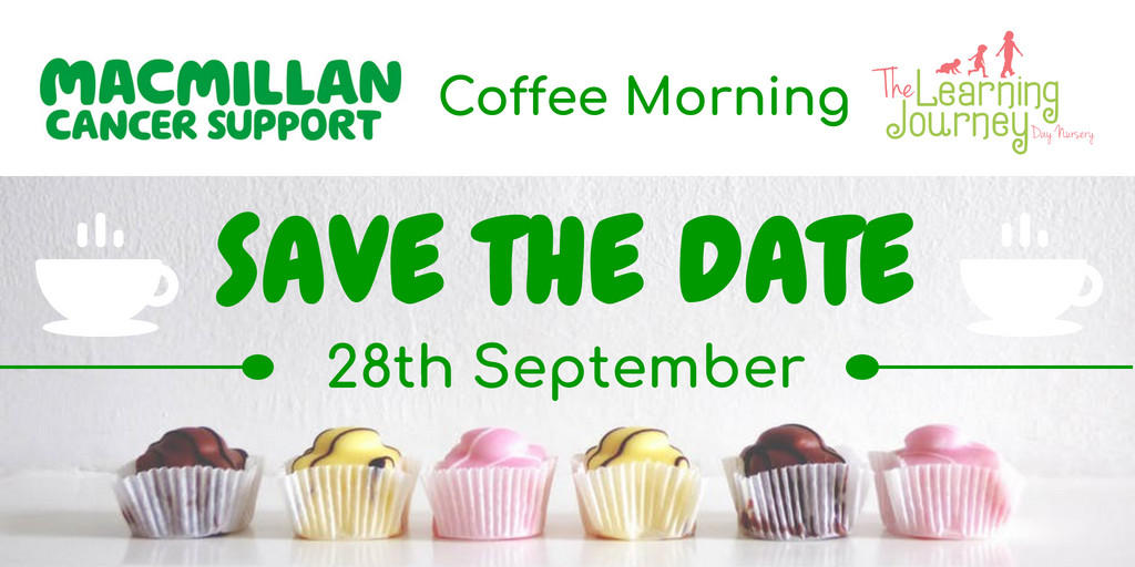 Macmillan Coffee Morning- Save the Date!